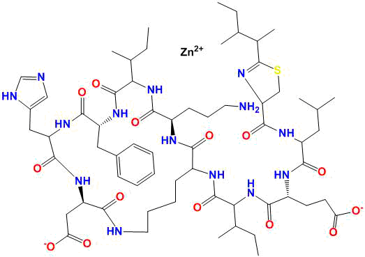 Pure Active Pharmaceutical Ingredients bacitracin zinc structure