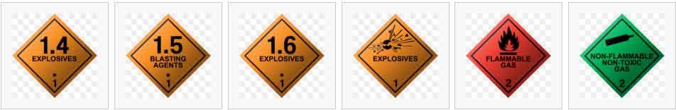 hazardous type 1~2 labels