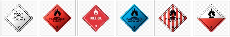 hazardous type 2~4 labels