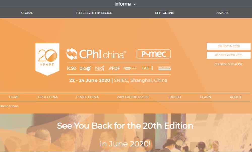 CPHI China home page