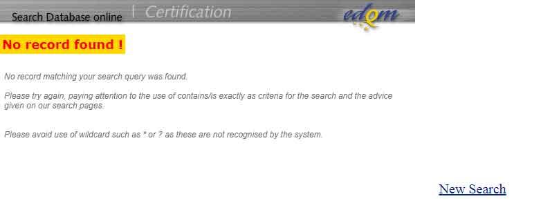 no result for seaching bacitracin zinc on edqm website