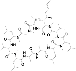 Cyclosporine 59865-13-3 structure