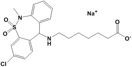 Tianeptine sodium structure