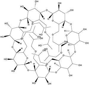 hydroxypropyl beta cyclodextrin structure