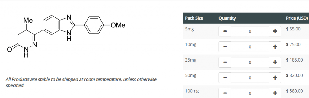 pimobendan price from trc-canada is 580usd for 100mg