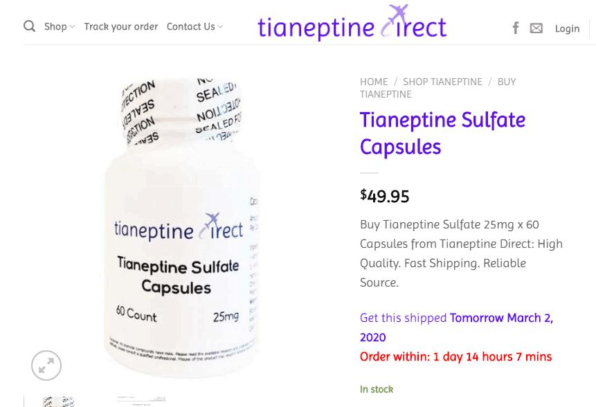 tianeptine sulfate 25mg capsules